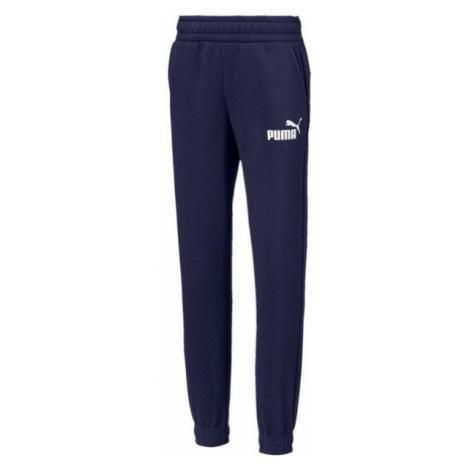 Puma ESS LOGO SWEAT PANTS FL dark blue - Children's pants