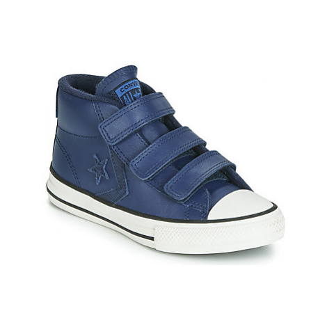 Converse STAR PLAYER 3V ASTEROID LEATHER HI girls's Children's Shoes (High-top Trainers) in Blue