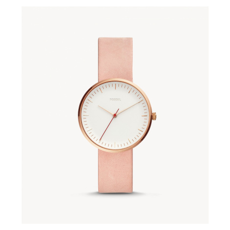 Fossil Women's Essentialist Three-Hand Blush Leather Watch