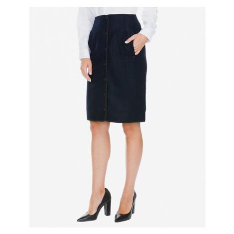 Blue straight skirts
