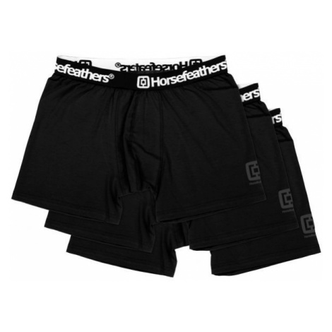 Horsefeathers DYNASTY 3PACK BOXER SHORTS black - Men's boxer briefs