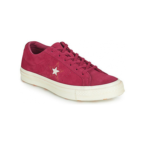 Converse ONE STAR LOVE IN THE DETAILS SUEDE OX women's Shoes (Trainers) in Pink