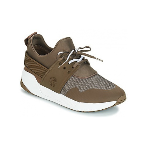 Timberland Kiri Up Knit Oxford w/PU women's Shoes (Trainers) in Brown