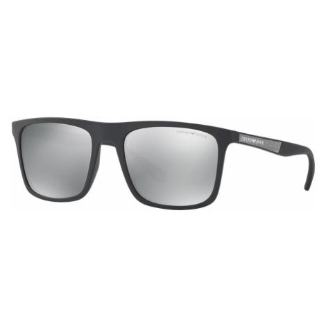 Emporio Armani Man EA4097 - Frame color: Black, Lens color: Silver, Size 56-19/145