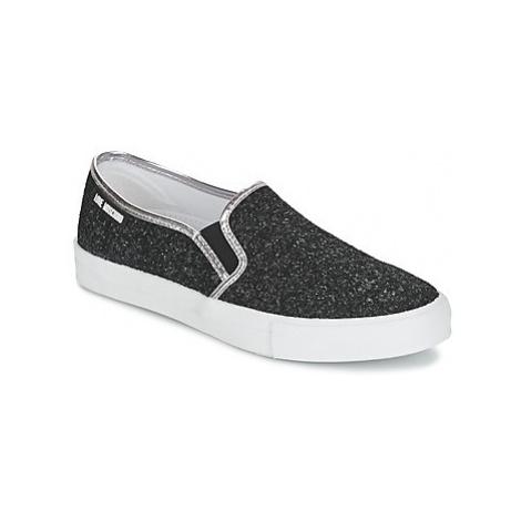 Black women's slip-on shoes