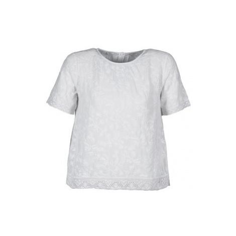 Manoush COTONNADE SMOCKEE women's T shirt in White