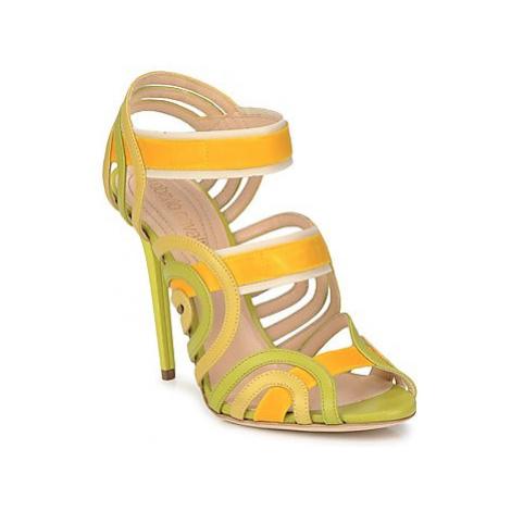 Roberto Cavalli RPS691 women's Sandals in Yellow