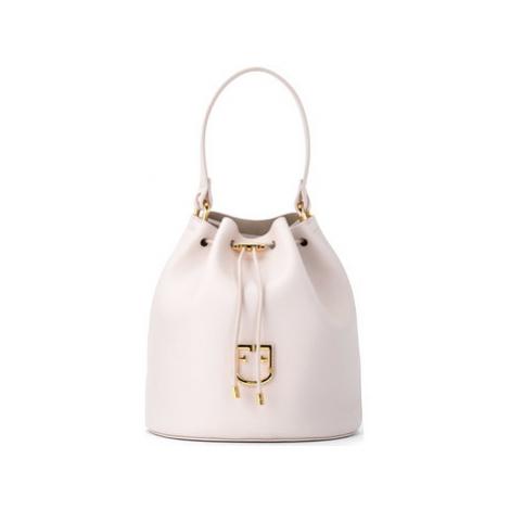 Furla bucket bag model Corona S in linen-colored leather women's Shoulder Bag in Beige
