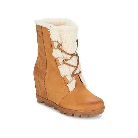 Sorel JOAN OF ARCTICWEDGE II SHEARLING women's Mid Boots in Brown