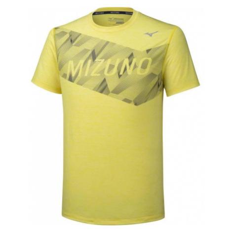 Mizuno IMPULSE CORE GRAPHIC TEE yellow - Men's short sleeve running T-shirt