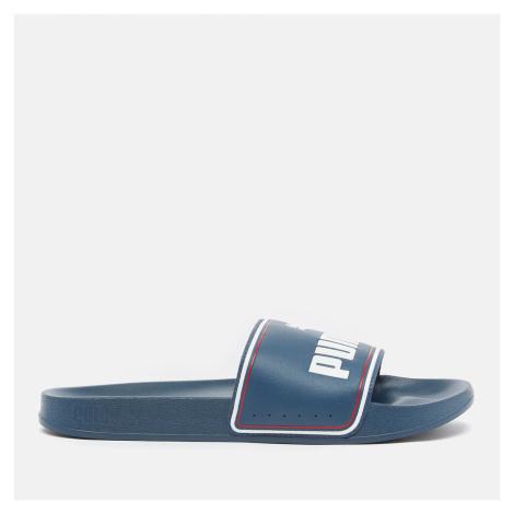 Puma Men's Leadcat Slide Sandals - Dark Denim/Puma White/High Risk Red - UK