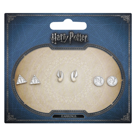 Harry Potter - Symbols - Earpin set - silver-coloured