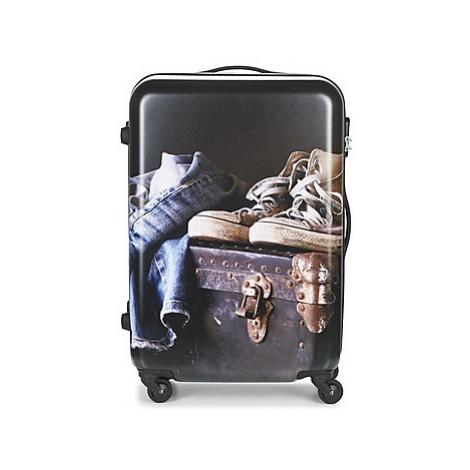 David Jones ACHIDATA 84L men's Hard Suitcase in Multicolour