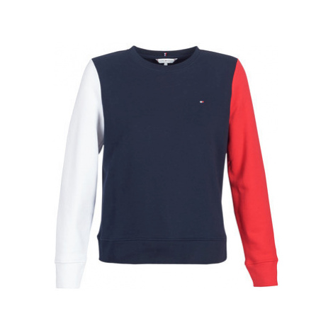 Tommy Hilfiger CLAIRE SWEATSHIRT CNK women's Sweatshirt in Blue