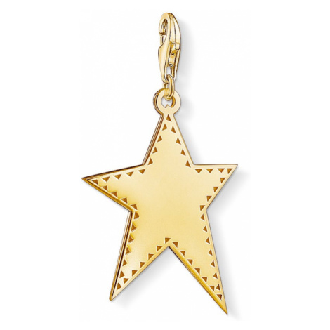 Thomas Sabo Gold Plated Star Large Pendant Charm