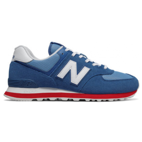 New Balance 574 Essentials Shoes - Classic Blue/Team Red