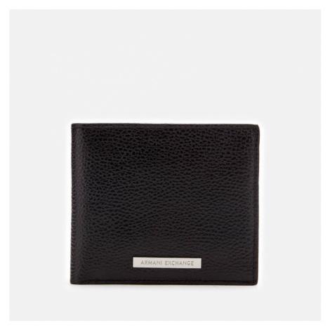 Armani Exchange Men's Bifold Wallet with Credit Card Holder - Black