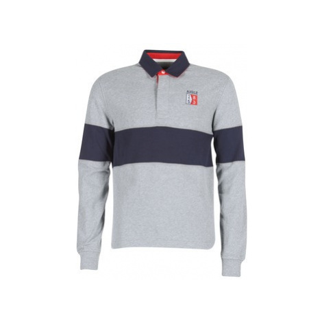 Aigle 53 RUGBY men's Polo shirt in Grey