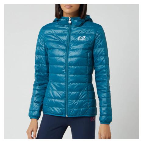 Emporio Armani EA7 Women's Train Core Lady Light Down Packable Jacket - Blue Coral - Grey