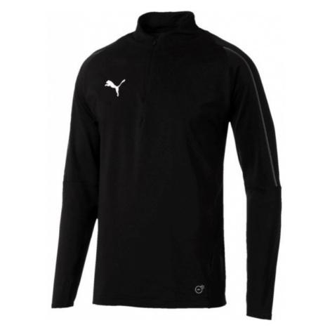 Puma FINAL TRAINING 1/4 ZIP TOP black - Men's sports T-shirt