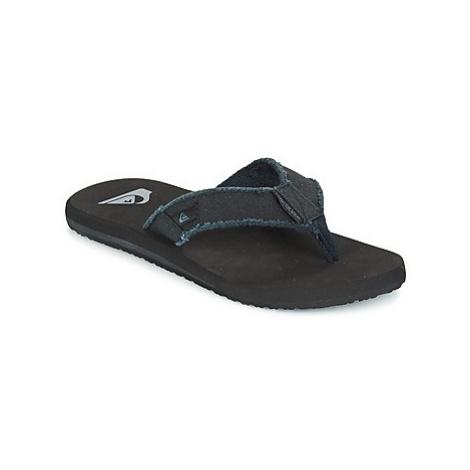 Quiksilver MONKEY ABYSS men's Flip flops / Sandals (Shoes) in Black