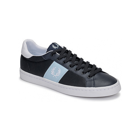 Fred Perry LAWN LEATHER / MESH men's Shoes (Trainers) in Blue