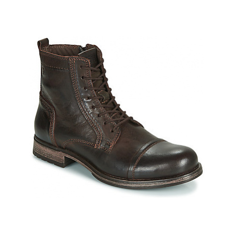 Jack Jones JFW RUSSEL LEATHER men's Mid Boots in Brown Jack & Jones