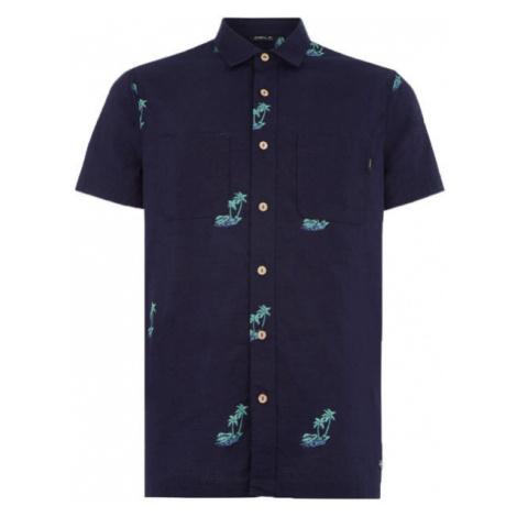 O'Neill LM PALM AOP S/SLV SHIRT dark blue - Men's shirt