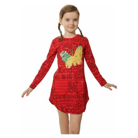 dress Desigual 67V32E7/Yuba - 3092/Rojo