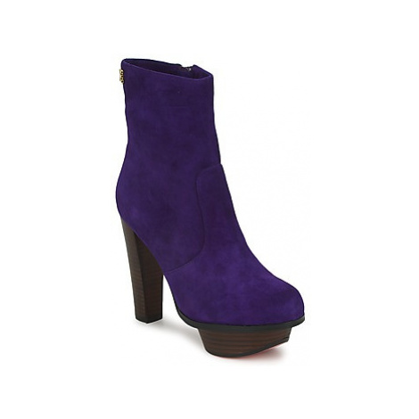 Edith Ella - women's Low Ankle Boots in Purple
