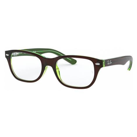 Ray-Ban Rb1555 Unisex Optical Lenses: Multicolor, Frame: Brown - RB1555 3665 46-16