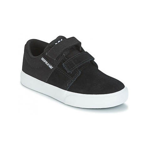 Supra KIDS STACKS II VULC VELCRO boys's Children's Shoes (Trainers) in Black