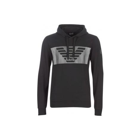 Emporio Armani EA7 6GPM56-PJ05Z-1202 men's Sweatshirt in Black