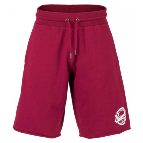 Russell Athletic COLLEGIANTE RAW EDGE SHORTS wine - Men's shorts