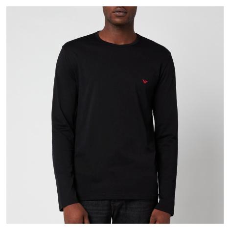 Emporio Armani Men's Pure Cotton Crew Neck T-Shirt - Black