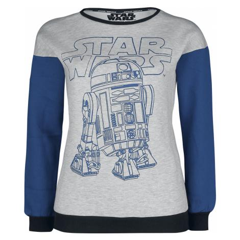 Star Wars - Episode 9 - The Rise of Skywalker - R2-D2 - Girls sweatshirt - mottled grey/blue