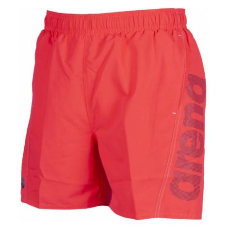 Arena M FUNDAMENTALS LOGO BOXER red - Men's swimming shorts