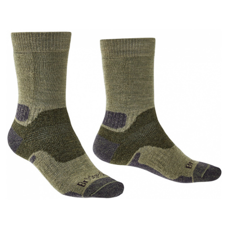 Bridgedale Mens Hike Midweight Merino Endurance Boot Socks-Green-12+