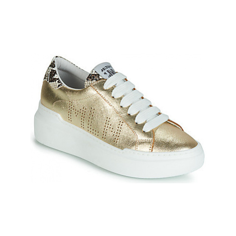 Meline MINE women's Shoes (Trainers) in Gold