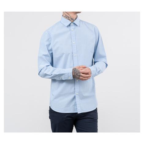 SELECTED Slimmark-Washed Longsleeve Shirt Light Blue