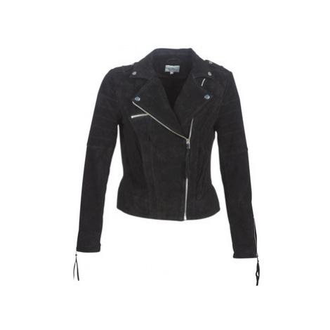 Vila VICRIS women's Leather jacket in Black