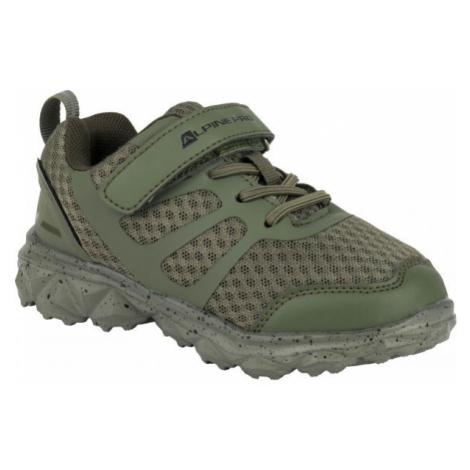 ALPINE PRO CAPTHE dark green - Kids' walking shoes