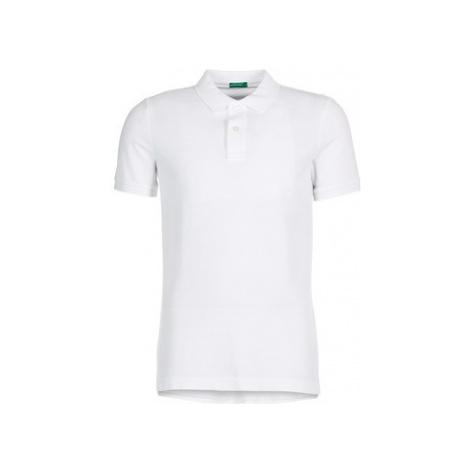 Benetton MOPALO men's Polo shirt in White United Colors of Benetton