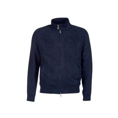 Serge Blanco FIDENZA men's Leather jacket in Blue