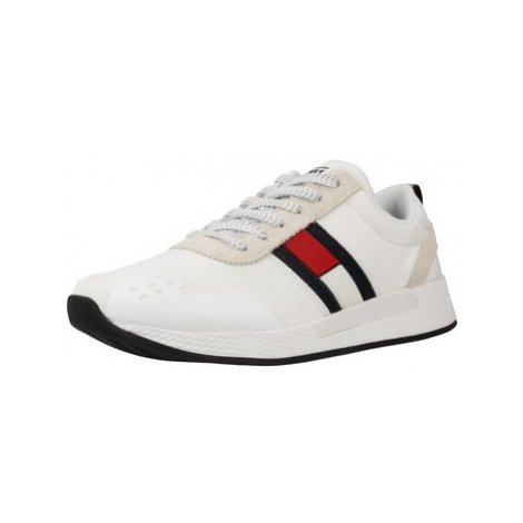 Tommy Jeans TECHNICAL PIN LOGO SNEAK men's Shoes (Trainers) in White Tommy Hilfiger