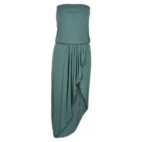 Urban Classics Ladies Viscose Bandeau Dress Short dress petrol