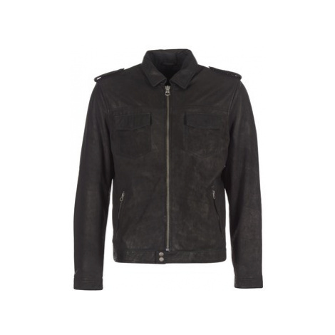 Pepe jeans NARCISO men's Leather jacket in Black