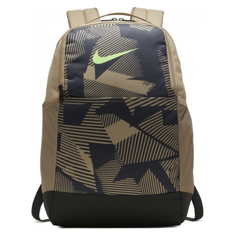 backpack Nike Brasilia XL 9.0 AOP - 247/Khaki/Dark Smoke Gray/Ghost Green