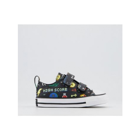 Converse All Star 2vlace Trainers STORM WIND BLACK WHITE GAMER