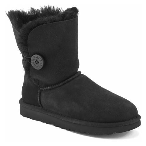 UGG Women's Bailey Button II Sheepskin Boots - Black - UK